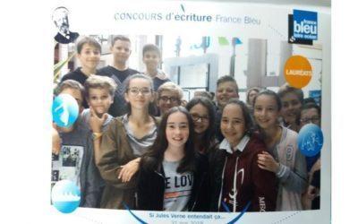 Remise de prix à Nantes pour le concours Jules VERNE remporté par 15 élèves de 6ème